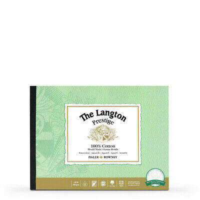 Daler Rowney Langton Prestige Watercolour Paper Block 7x10in Not • 17.10£