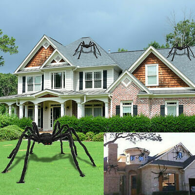 Spider Crawling Halloween Scary Giant Home Wall  Decor Props Outdoor Decor  New • 9.79£