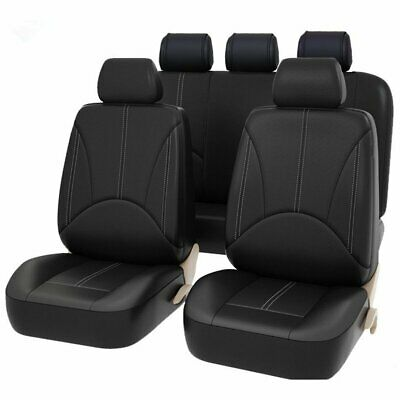 $ CDN37.50 • Buy 9Pcs PU Leather Car Seat Cover Full Set Front Rear Seat Cushion Mat Protector