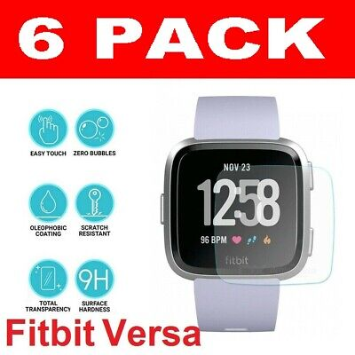 $ CDN5.61 • Buy 3X Genuine TEMPERED GLASS Screen Protector For Fitbit VERSA-Fitness Smart Watch