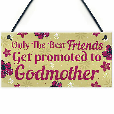 £3.99 • Buy Godmother Friendship Gifts Plaque Godparents Thank You Gifts For Best Friend