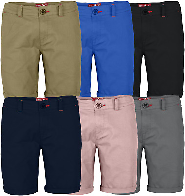 $15.29 • Buy Mens Stretch Shorts Casual Wear Chino Flat Front Slim Fit Half Pants