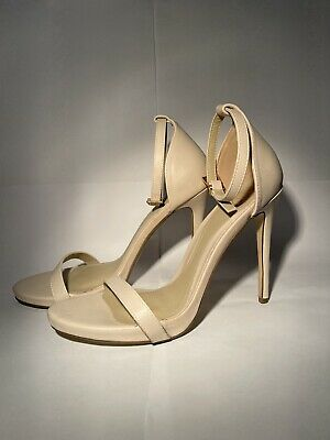 Ladies Size 7 Nude Missguided High Heel Shoes Stilettos • 12.49£
