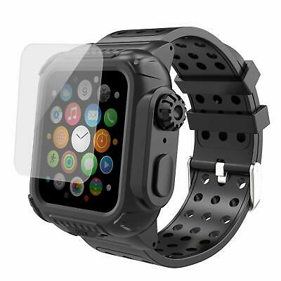 $15.99 • Buy For Apple Watch Series 6 5 4 44mm Armor Band Case Rugged Protective Strap Cover