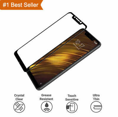 $ CDN4.02 • Buy For Xiaomi Pocophone F1 Tempered Glass Edge Full Coverage Screen Protector Black