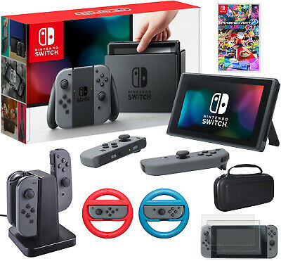 $394.99 • Buy Nintendo Switch 32 GB Console With Mario Kart 8 Deluxe & Accessories Bundle