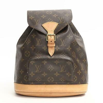 e1a74aea2952 Authentic LOUIS VUITTON Monsuri MM Backpack M51136 Monogram Used Vintage •  777.00