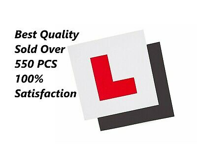L Plate For Car Learner Fully Magnetic Learning To Drive Exterior Secure 2 Pcs • 1.59£