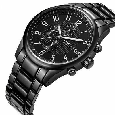 AU19.99 • Buy CURREN Men's Fashion Black Quartz Stainless Steel Analog Military Sport Watches