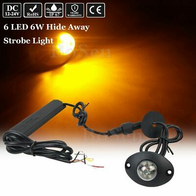 $25.64 • Buy 2.3  Amber 6W Hideaway LED Emergency Patrol Truck Vehicle Warning Strobe Light