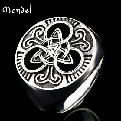 $10.99 • Buy MENDEL Mens Stainless Steel Irish Celtic Triquetra Trinity Knot Ring Size 7-15