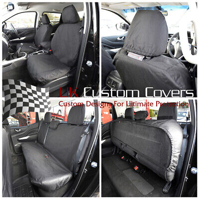 Fits Nissan Navara Np300 Double Cab 2019 On Front & Rear Seat Covers 242 243 • 82.95£