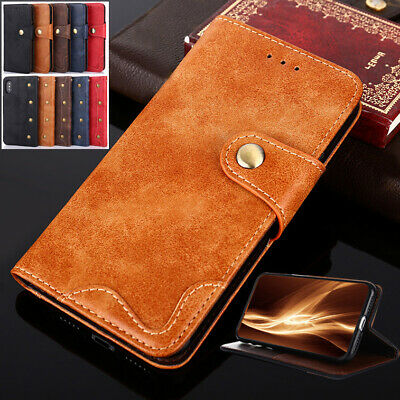 AU11.99 • Buy Genuine Leather For OnePlus 6 6T 5 5T 3  Card Flip Stand Wallet Phone Cover Case