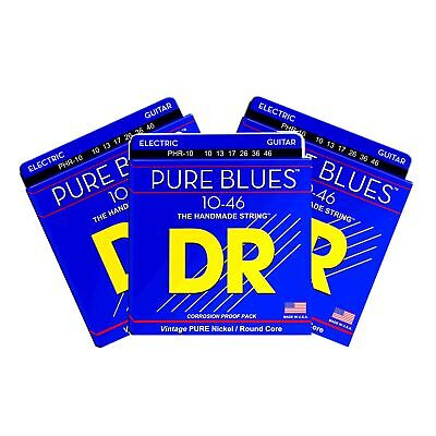 $ CDN25.45 • Buy 3 SETS DR Strings Pure Blues Electric Guitar Strings Pure Nickel Medium 10-46