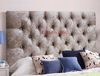 New Chesterfield Crushed Velvet 36  Headboard - All Sizes & Colours Fast & Free • 54.99£