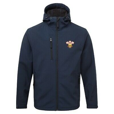Wales Retro Rugby Hooded Softshell Jacket • 21£