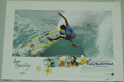 AU99.99 • Buy Layne Beachley Hand Signed Awesome Limited Edition Print Slater Fanning