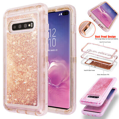 AU10.79 • Buy For Samsung Galaxy S10+/S9/S8 Liquid Glitter Bling Shockproof Phone Case Cover