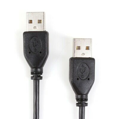 £3.39 • Buy 1 METRE DOUBLE ENDED USB CABLE Male To Male Type A Shielded Long Wire Lead Cord