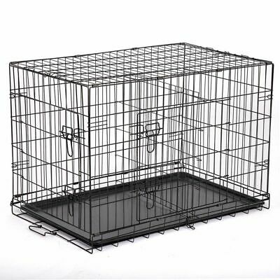 $79.99 • Buy Large Dog Crate XXL Kennel Extra Huge Folding Pet Wire Cage Giant Breed Size NEW