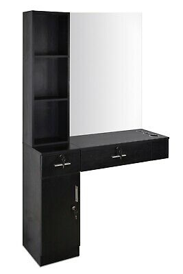 $259.99 • Buy Locking Wall Mount Mirrors Hair Styling Station Desk Barber Salon Drawer
