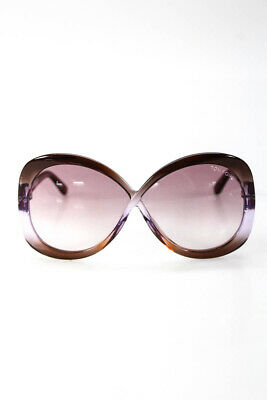 1fe6f61074 Tom Ford Womens Sunglasses Margot TF226 Brown Purple Oval Frame  415 NEW IN  CASE • 118.01
