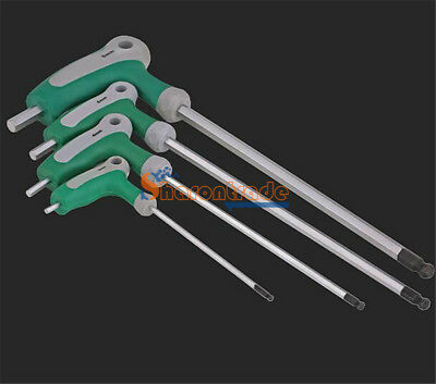 AU14.46 • Buy 2.0mm-10mm Metric NEW T Handle Allen Wrench Ball End Hex Key Long Arm CR-V Steel
