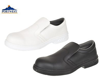 Portwest Slip On Safety Shoes Anti Slip Food Catering Chef Hospital Medical FW81 • 24.99£
