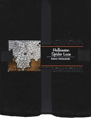 $18 • Buy Halloween Rectangle Tablecloth 60 X 84 Black Spider Cob Web Lace Fabric