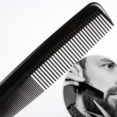 6  BLACK POCKET COMB Gents Mens Beard Hair Moustache Grooming THICK THIN TOOTHED • 1.89£