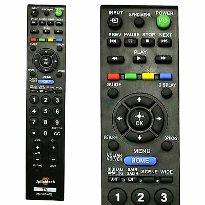 Replacement Remote Control For Sony TV Bravia KDL37EX403 KDL40EX403 KDL32EX403 • 3.65£