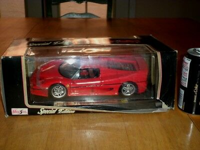 $75 • Buy 1995 FERRARI F50, DIE CAST METAL FACTORY MAISTO TOY, Scale 1:18