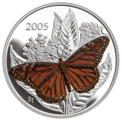 $30.43 • Buy Canada 2005 50 Cent Monarch Butterfly Sterling Silver Coin RCM W/ COA & Box