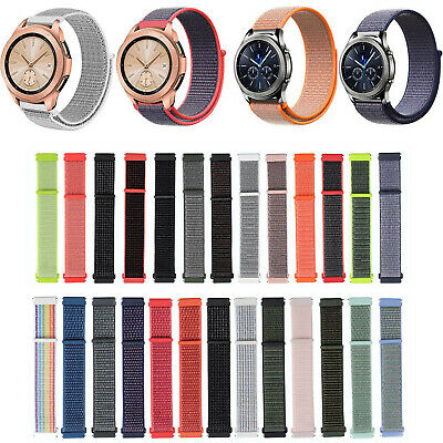 AU6.43 • Buy Woven Nylon Band For Samsung Galaxy Watch 42mm Active 2 Gear S2 Classic Bracelet