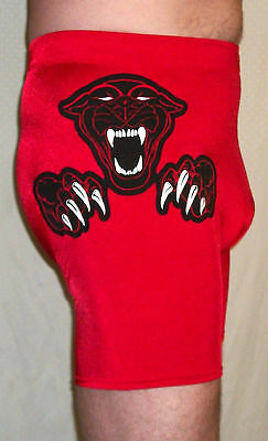 $89.99 • Buy New Red Black Panther Pro Wrestling Gear Mens Tights Xl