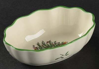 $13.29 • Buy Spode CHRISTMAS TREE Fluted Oval Dish 10429343