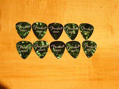 $ CDN3.59 • Buy NEW ! - Fender Guitar Picks - Heavy - Green -  Pack Of 10