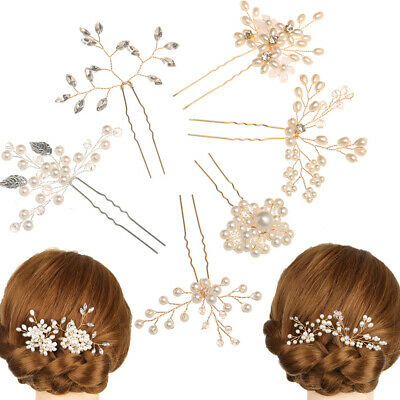 $1 • Buy Jewelry Accessories Hairpins Bridal Clips Pearl Hair Pin  Bridesmaid Tiara