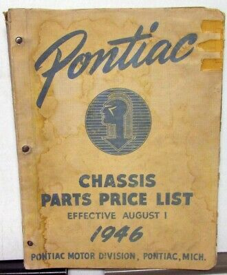 $47.96 • Buy 1946 Pontiac Chassis Parts Price List Catalog Book Streamliner Torpedo 6 8 Coupe