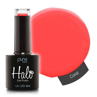 Halo Gel Polish 8ml Coral Pure Nails UV/LED Varnish  • 6.99£