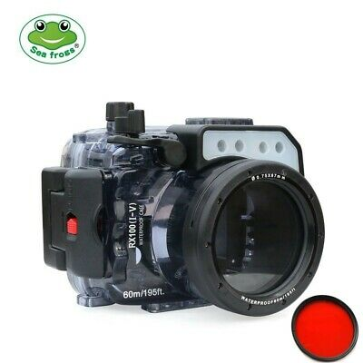 Seafrogs 60m/195ft Underwater Camera Housing Case For Sony RX100(I-V) M2 M3 M4 • 169£