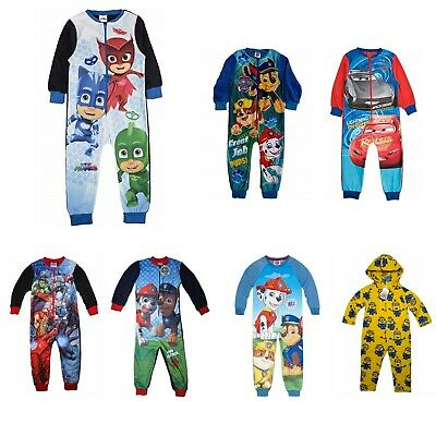 Boys Kids One Piece Bodysuit Jump Pyjamas Nightwear Children All In One 1-10 Yr • 4.99£