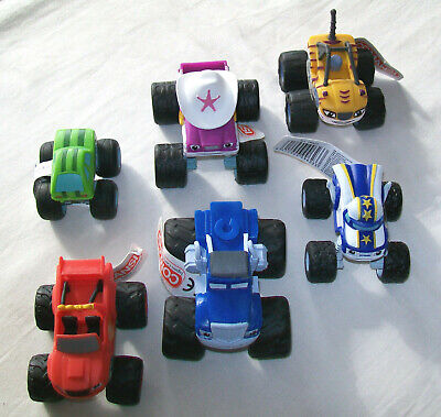BLAZE & MONSTER MACHINES Small Plastic Cake Topper Toy WHEELS DO NOT TURN/ROTATE • 6.99£