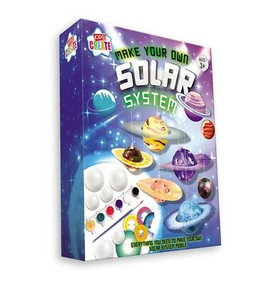 £5.95 • Buy Make & Paint Your Own Solar System Mobile Model Kit Childrens Science Craft SOSY