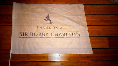 Limited Edition Sir Bobby Charlton Manchester United Flag & Everton Away Ticket • 22.99£