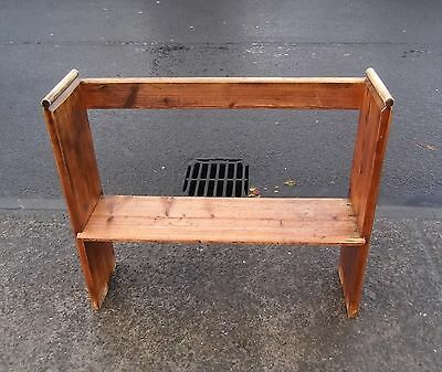 £100 • Buy Small Reclaimed Pine Church Bench / Pew / Settle #1     Delivery Available