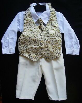 £15.99 • Buy BABY BOY OUTFIT Wedding Formal Wear Christening Special Occasion Paisley Suit