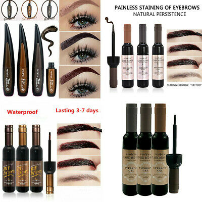 Waterproof Tattoo Eyebrow Gel Tint Peel Off Henna Paint Enhancers Makeup  Cream • 2.29£