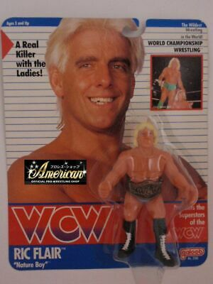 WCW PRO_WRESTLING FIGURES Nature Boy Ric Flare 91 Wine Red Tights Version O=38 • 259.99$