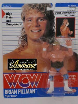 No=2 WCW PRO_WRESTLING FIGURES Brian Pillma 91 Sky Blue Tights Version UK Card • 299.99$